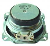 亮声LS66W-10-R4 2.5寸4欧10W橡胶边纸盆外磁折角扬声器6.32V